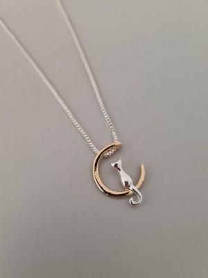 Naszyjnik srebrny-złoto