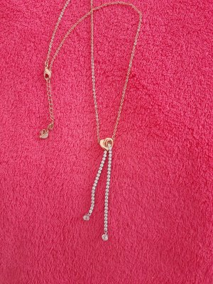 Svarowski Złoty łańcuch srebrny-brąz