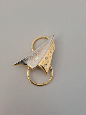 Vintage Spilla argento-oro