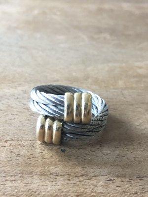 Juwelier Anillo de oro color plata-color oro