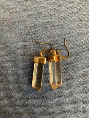 Handmade Boucle d'oreille incrustée de pierres doré