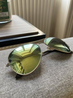 Gold Verspiegelte Pilotenbrille