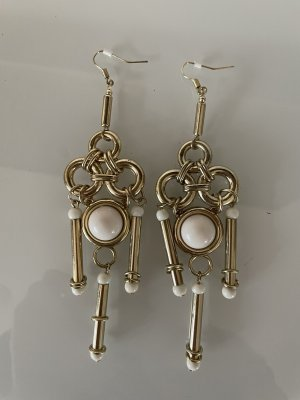 H&M Statement Earrings gold-colored-white