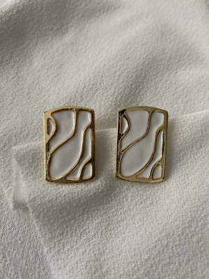Statement Earrings gold-colored-white