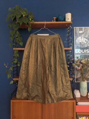 Gold wide legged pants