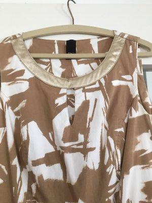 BC Collection Robe à manches courtes doré-blanc coton
