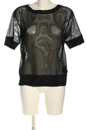 Goldbergh Mesh Shirt black weave pattern casual look