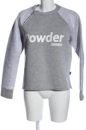 Goldbergh Sweatshirt lichtgrijs-wit gestippeld casual uitstraling