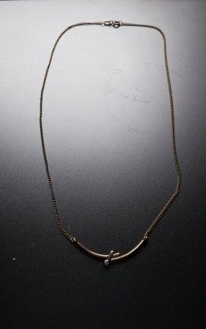 Goldcollier mit Diamant