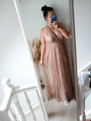 Golddiva Abendkleid Nude 40 neu
