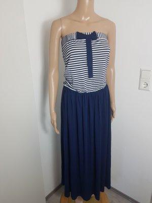 Bandeau Dress white-dark blue