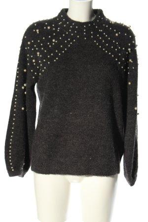 Golden Days Paris Pull tricoté noir style décontracté