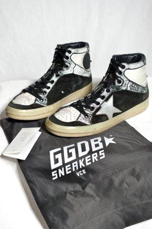 GOLDEN GOOSE 2.12 white British 37 Schwarz-Weiß Leder Sneaker OVP Vintagelook