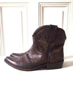 GOLDEN GOOSE Cowboy-Stiefel Used Look Braun Leder Gr.37