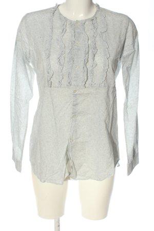 Golden Goose Camicia blusa grigio chiaro stampa integrale stile casual