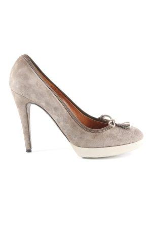 Golden Goose High Heels hellbeige-grau Business-Look