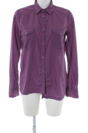 Golden Goose Camicia a maniche lunghe lilla-rosa stampa integrale stile casual