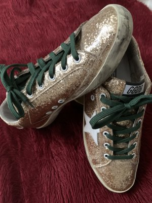 Golden Goose Sneakers met veters brons-wit