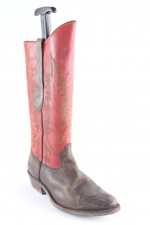 Golden Goose Western Boots abstract pattern casual look