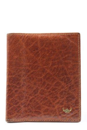 Golden Head Porte-cartes brun imprimé allover style décontracté