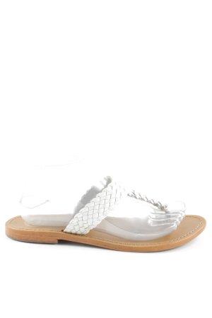 Golden Sun Flip Flop Sandalen creme-weiß Casual-Look