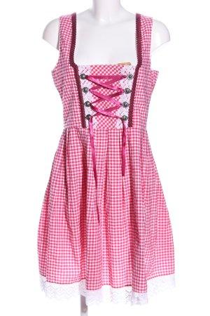 Golden Trachten Vestido Dirndl rosa-blanco elegante