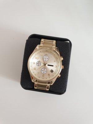 goldene Armbanduhr von Fossil