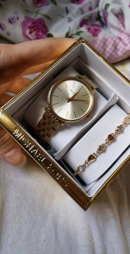 goldene Armbanduhr von Michael Kors