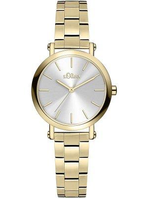 Goldene Armbanduhr von s. Oliver