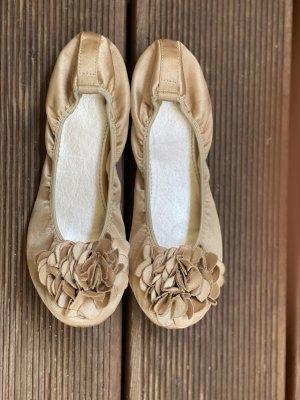 Bailarinas plegables marrón arena