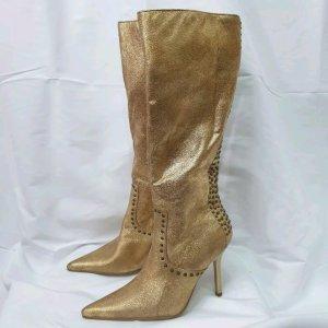 Graceland Wysokie buty na obcasie złoto