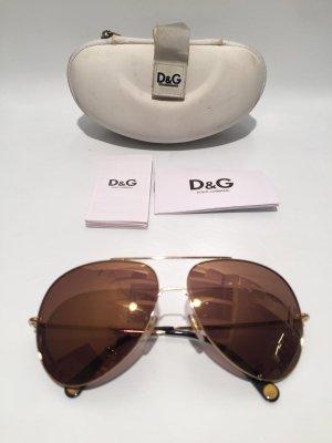 Goldene Dolce & Gabbana Sonnenbrille Pilotenbrille