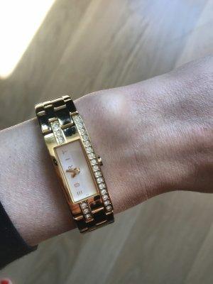Goldene Esprit Uhr mit Glitzersteinen