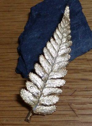 goldene Farnbrosche