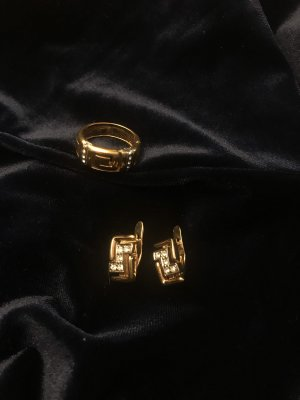 Goldene Fashion Schmuck Set