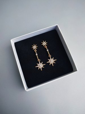 Goldene filigrane Star Light Ohrhänger Ohrringe - Modeschmuck