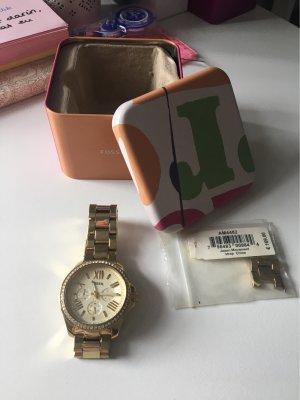 Fossil Montre avec bracelet métallique doré