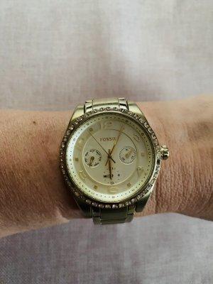 Goldene Fossil Uhr