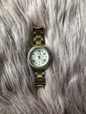 Fossil Analoog horloge goud