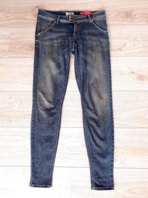MET Jeans skinny blu-oro Cotone