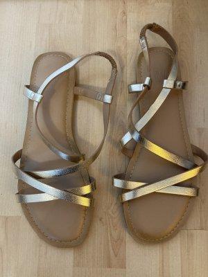 H&M Sandały z rzemykami złoto