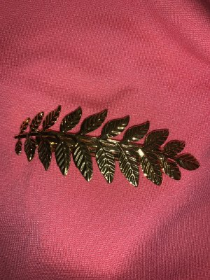 Leaf Hair Clip gold-colored