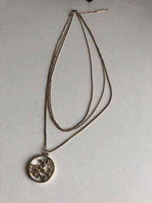 Goldene Halskette H&M