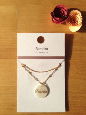 Bershka Shell Necklace gold-colored-oatmeal