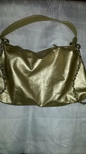 Goldene Handtasche . Neuwertig
