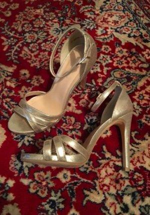 Goldene High Heels von New Look Gr. 38