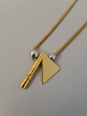 goldene Kette Dreieckanhänger vintage