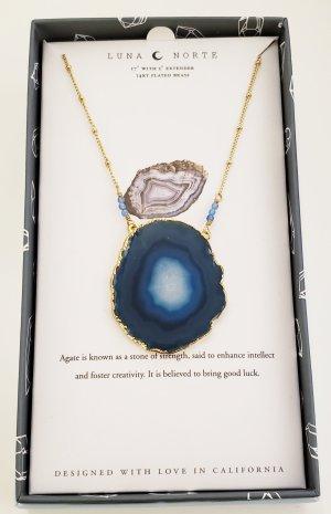 Luna Norte Gold Chain gold-colored-blue