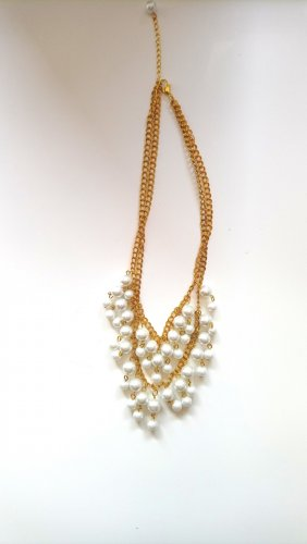 Statement Necklace white-gold-colored