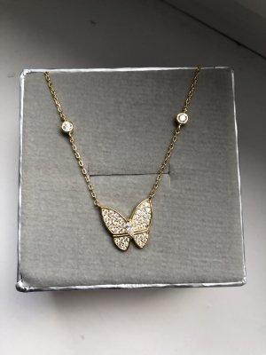 Goldene Kette mit Schmetterling, neu